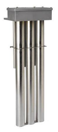 Immersion Heaters: 3P, 3F, 3S and 3T Series,  Triple Metal Heater