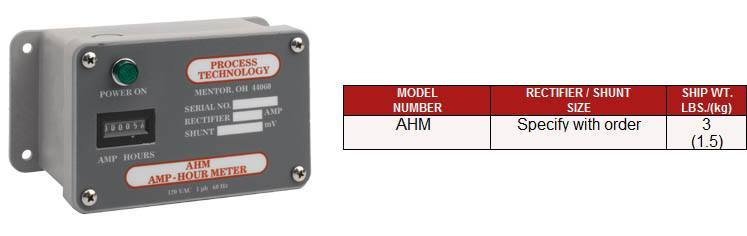 Amp Hour Meter : Process technology ahm series amp hour meters from cdi