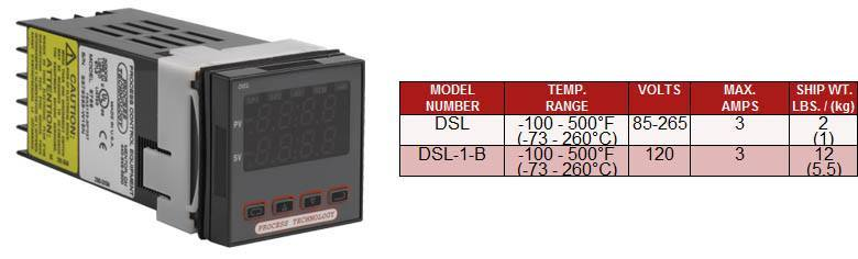 Digital Thermostats: DSL  Series, 1/16 DIN